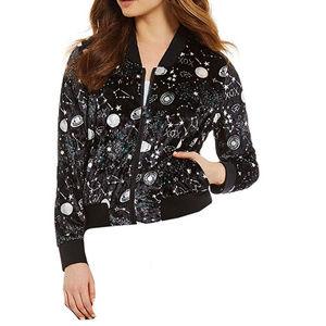 Betsy Johnson Milky Way Crushed Velvet Jacket S
